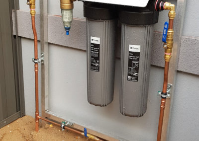 BWT backwash & WH2 Installation